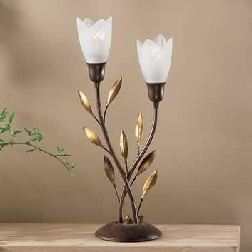 Bordlampe CAMPANA med blomster