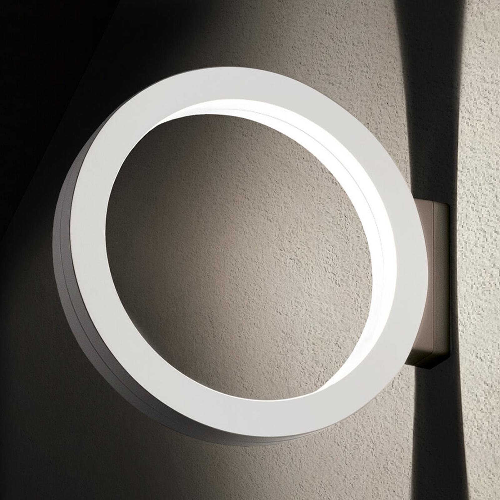 Applique d'extérieur LED Assolo en anneau, blanche