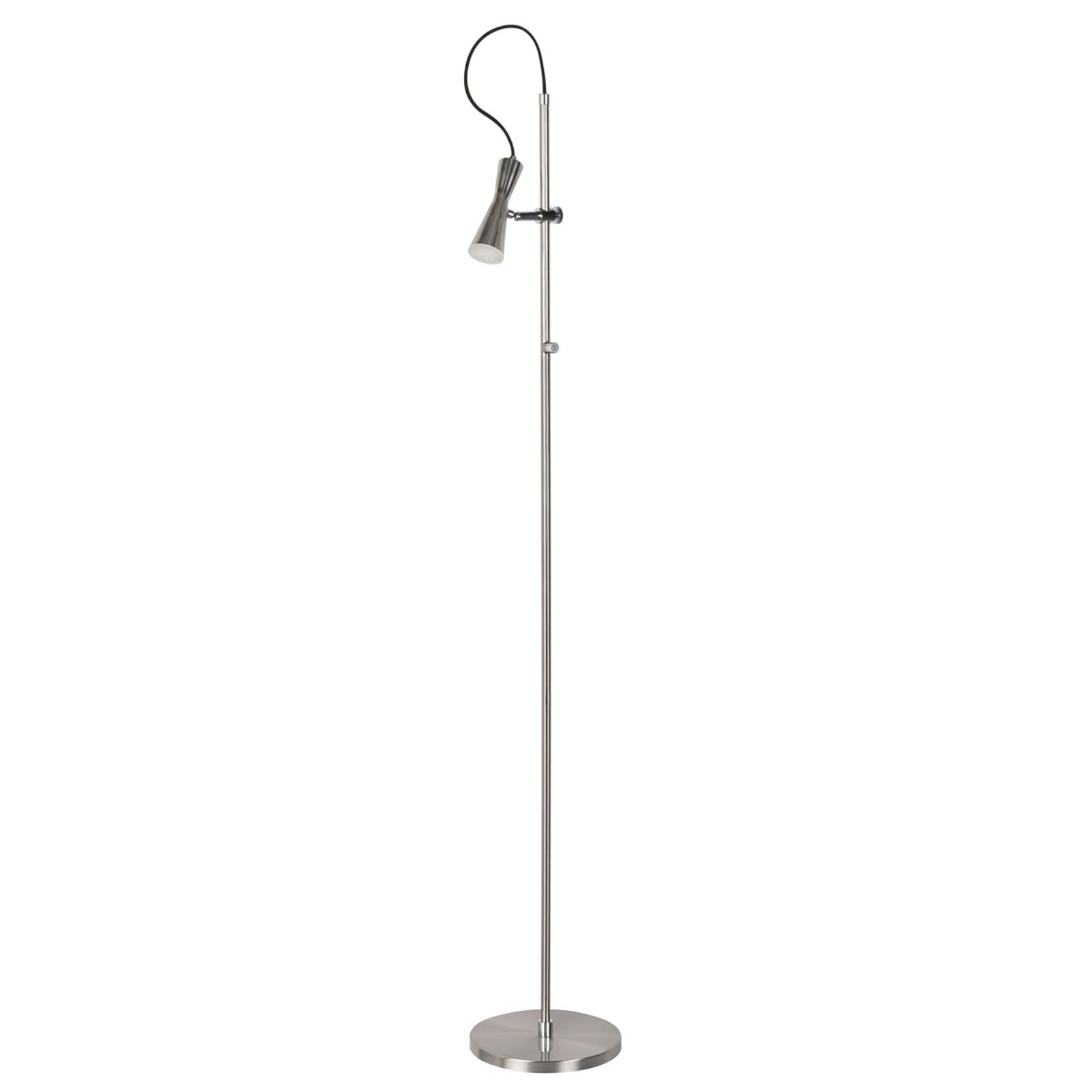 Move - een LED vloerlamp met pit, nikkel