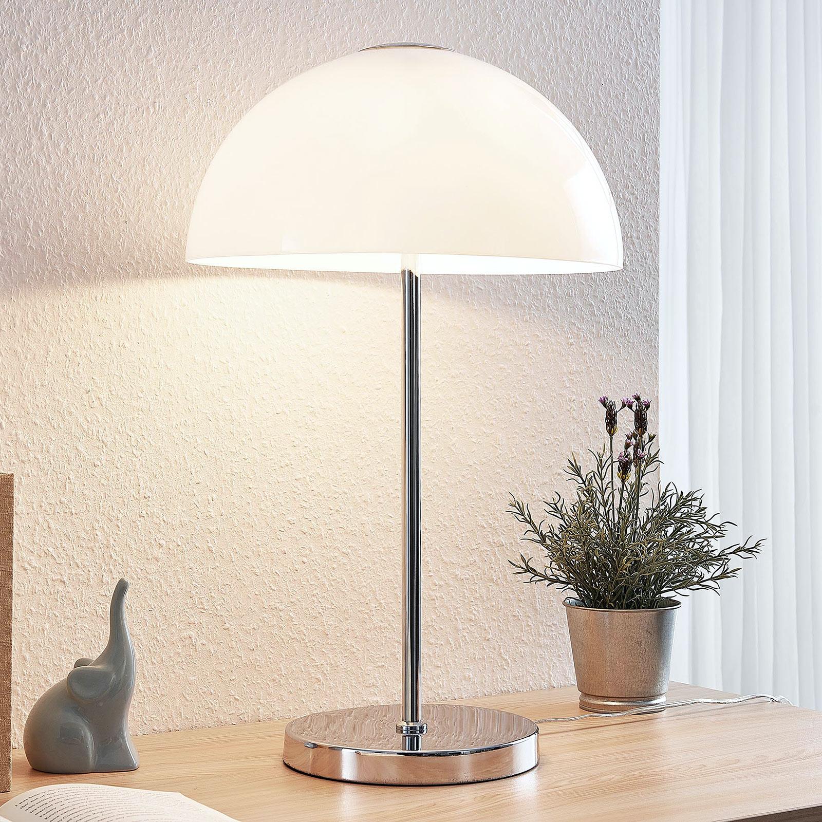 Lucande Lourenco lampe à poser en verre opale