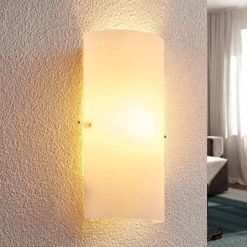 Szklana lampa ścienna Tuli o ponadczasowej urodzie