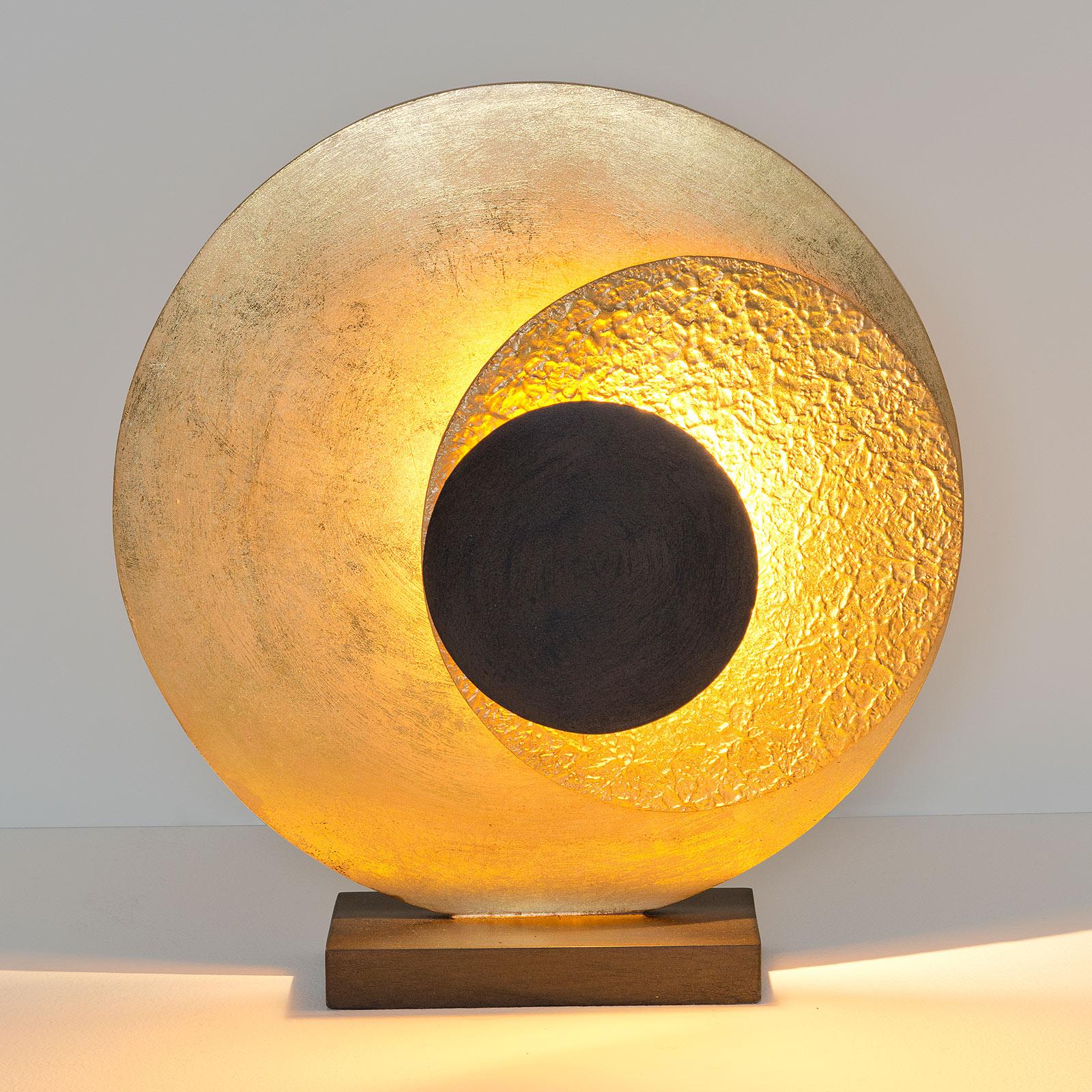 LED-bordslampa La Bocca, höjd 43 cm, guldbrun