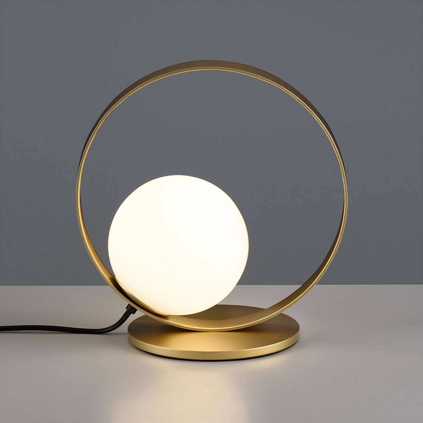 LED-Tischleuchte Halo, gold / opal