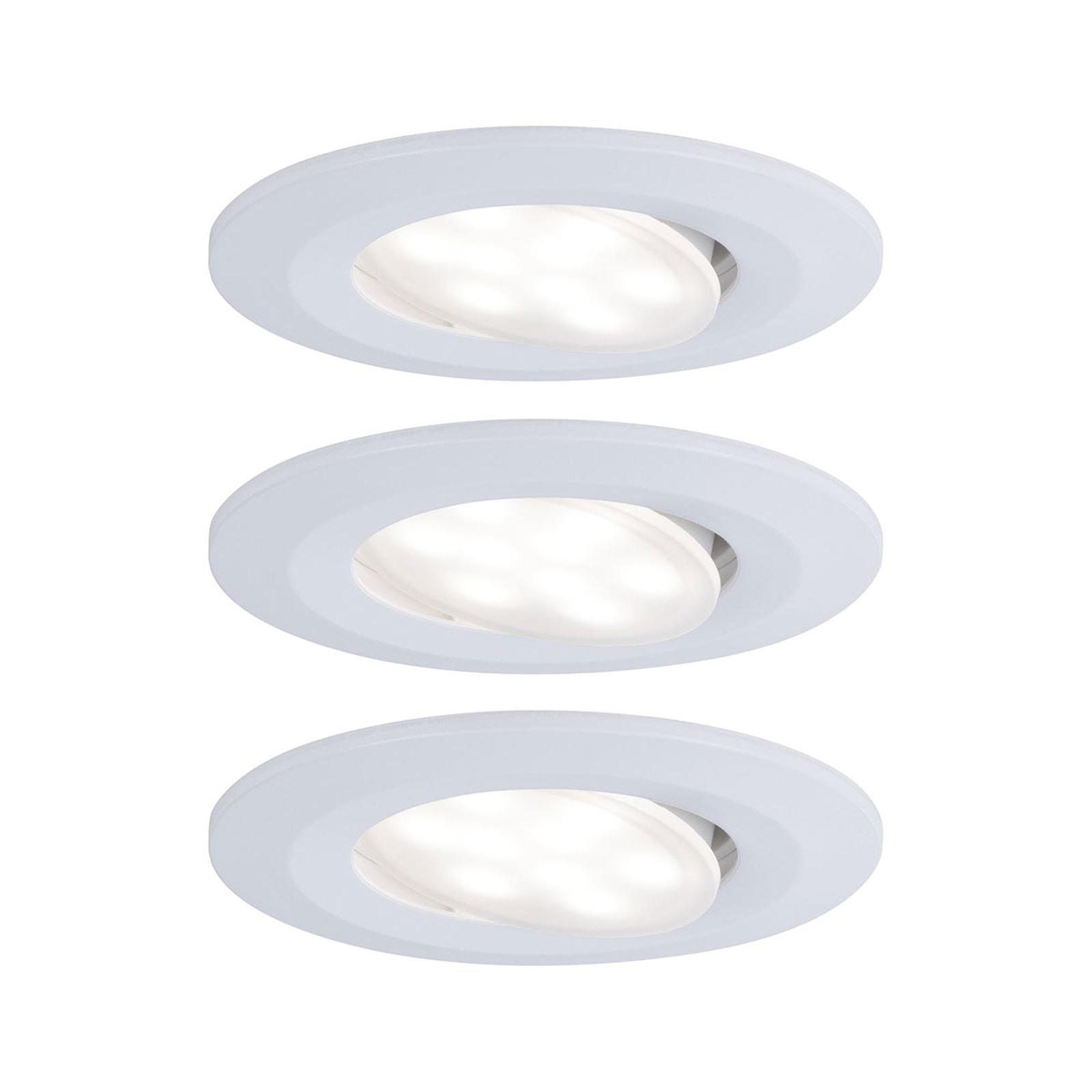 Paulmann LED-innfellingsspot Calla 3-pkn. hvit