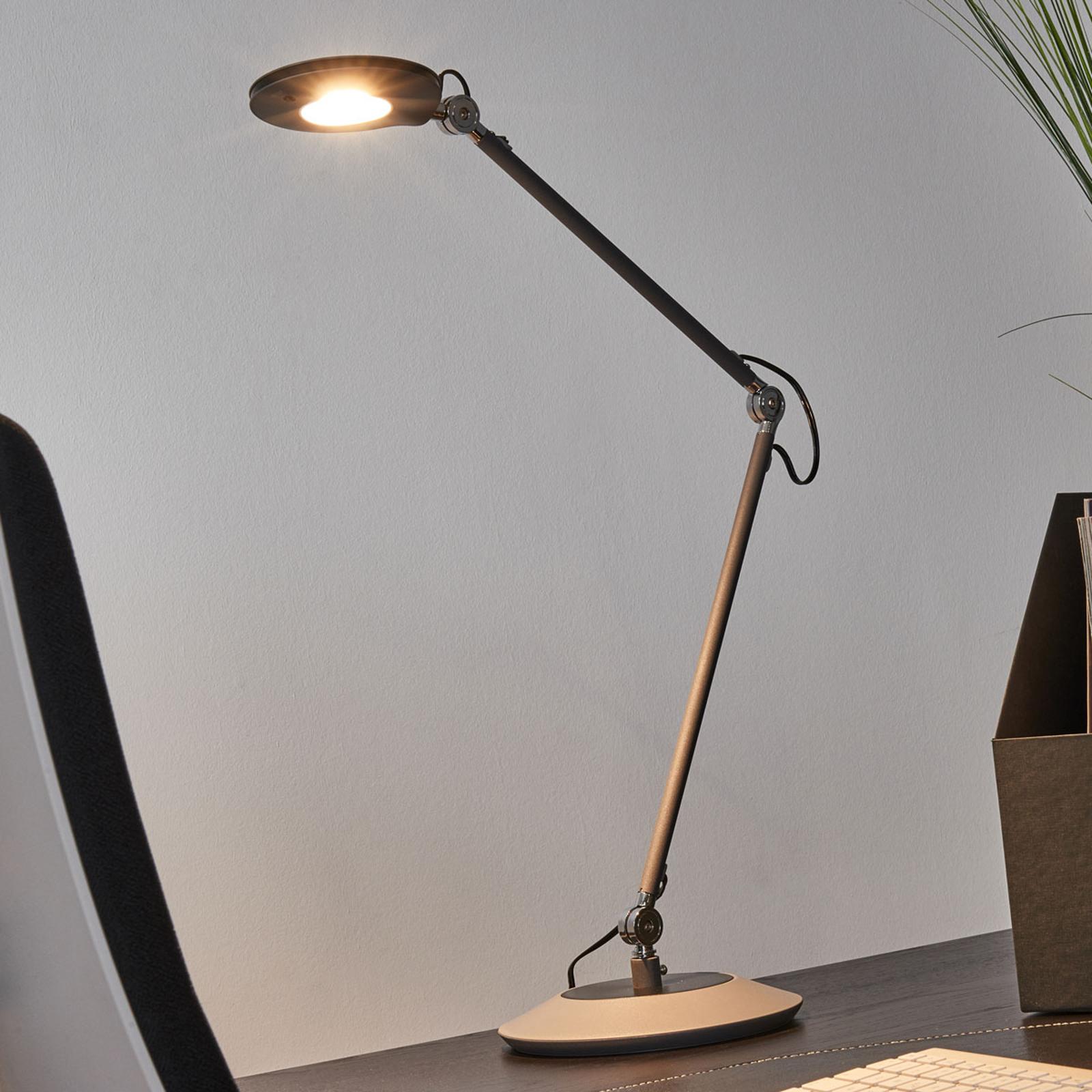 Anthrazitfarbene LED-Tischleuchte Roderic