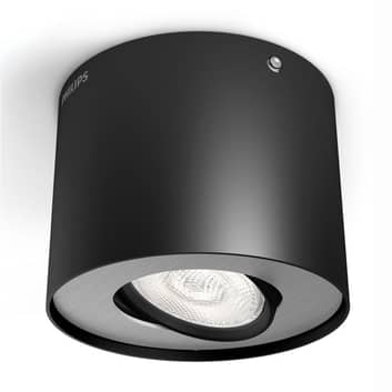 Svart LED-downlight Phase