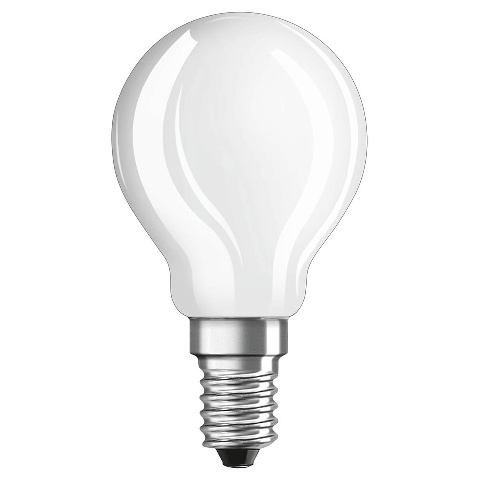 OSRAM LED goccia E14 4W bianco freddo satinato