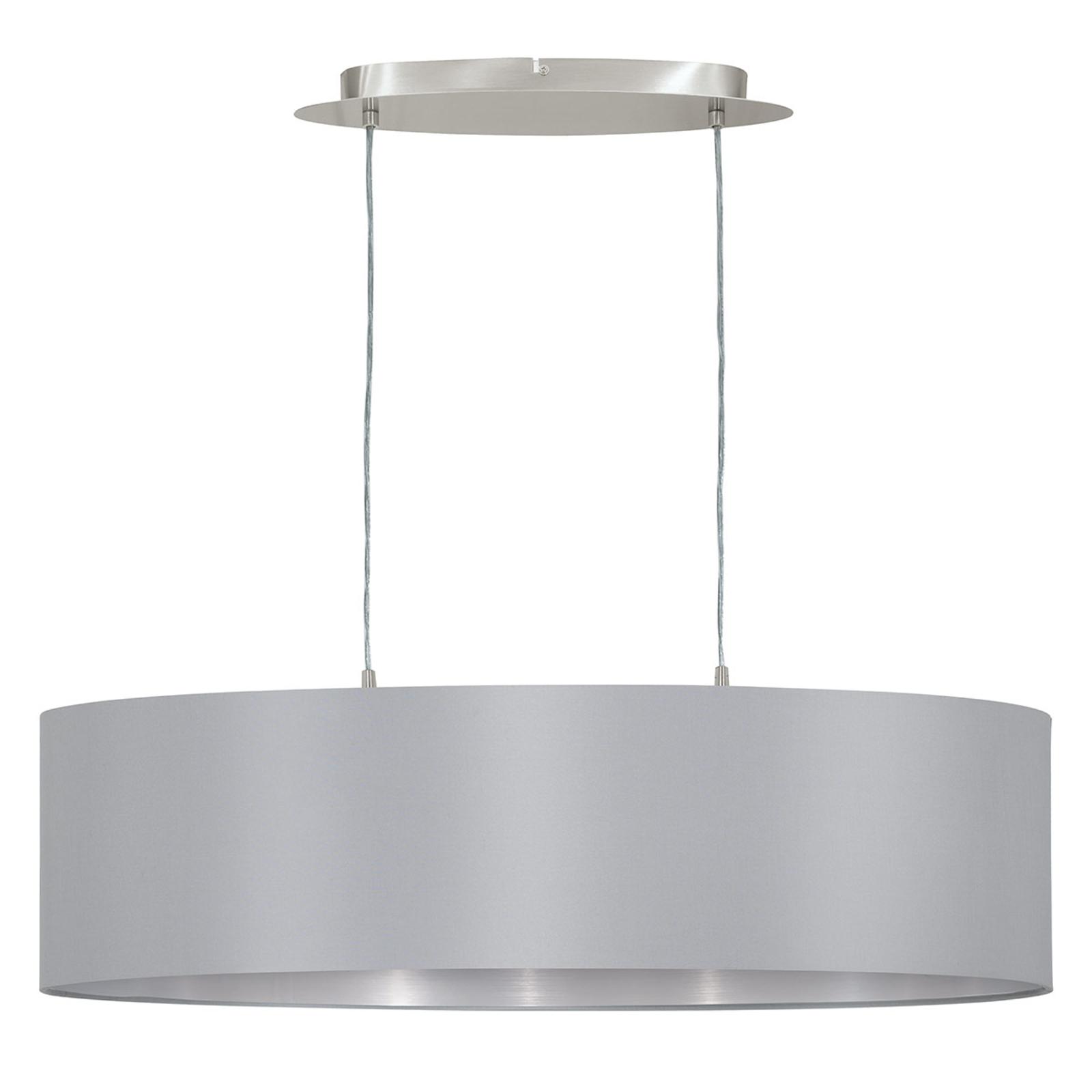 Suspension Maserlo ovale, gris-argenté