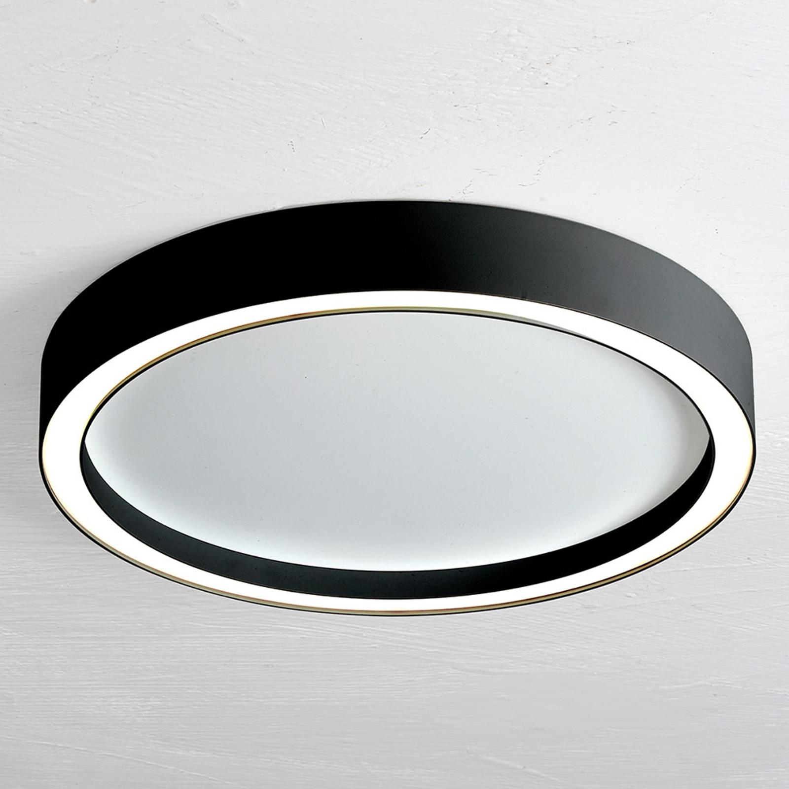 Bopp Aura LED-loftlampe, Ø 55 cm, hvid, sort