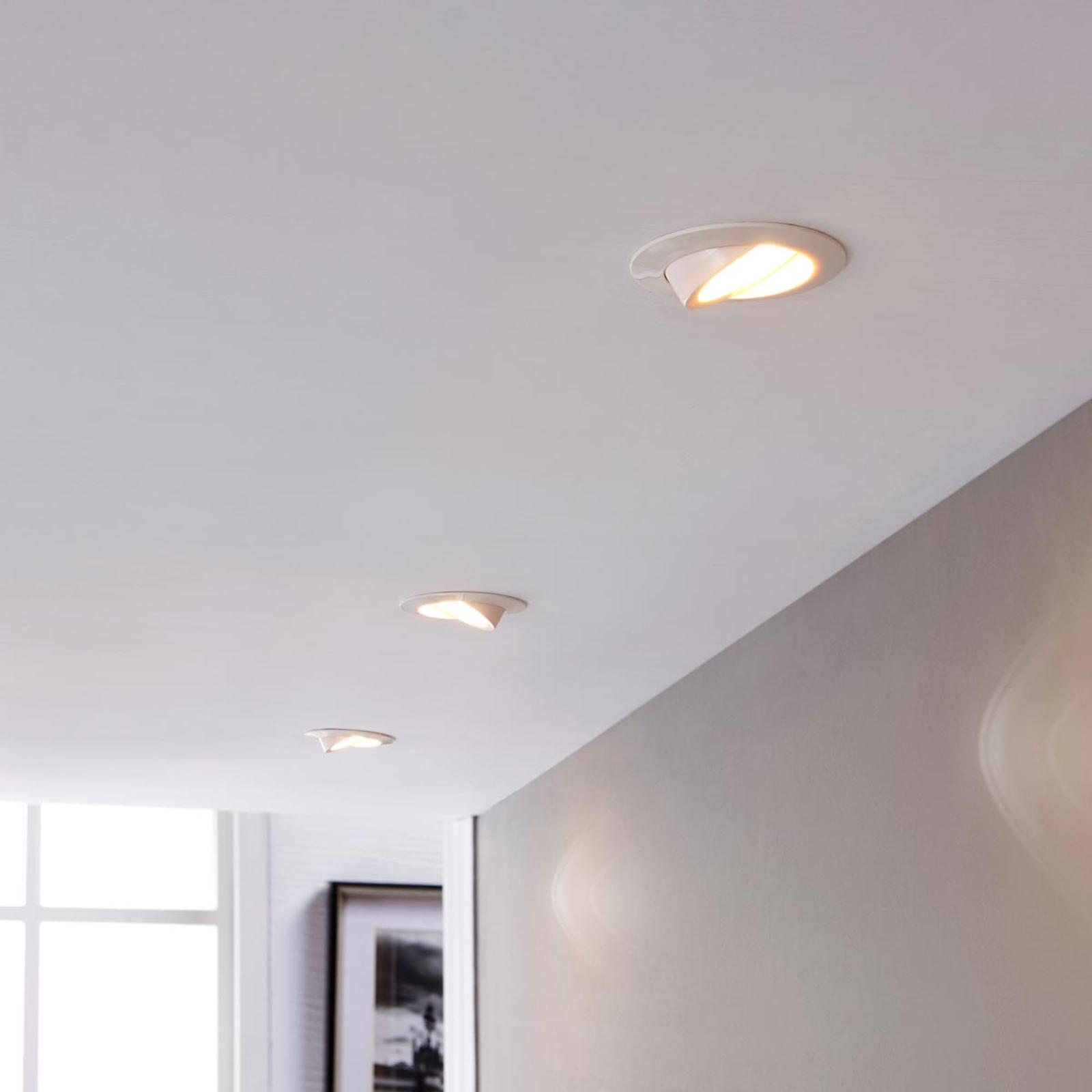 LED-downlight Andrej, rund, hvit 3er-sett