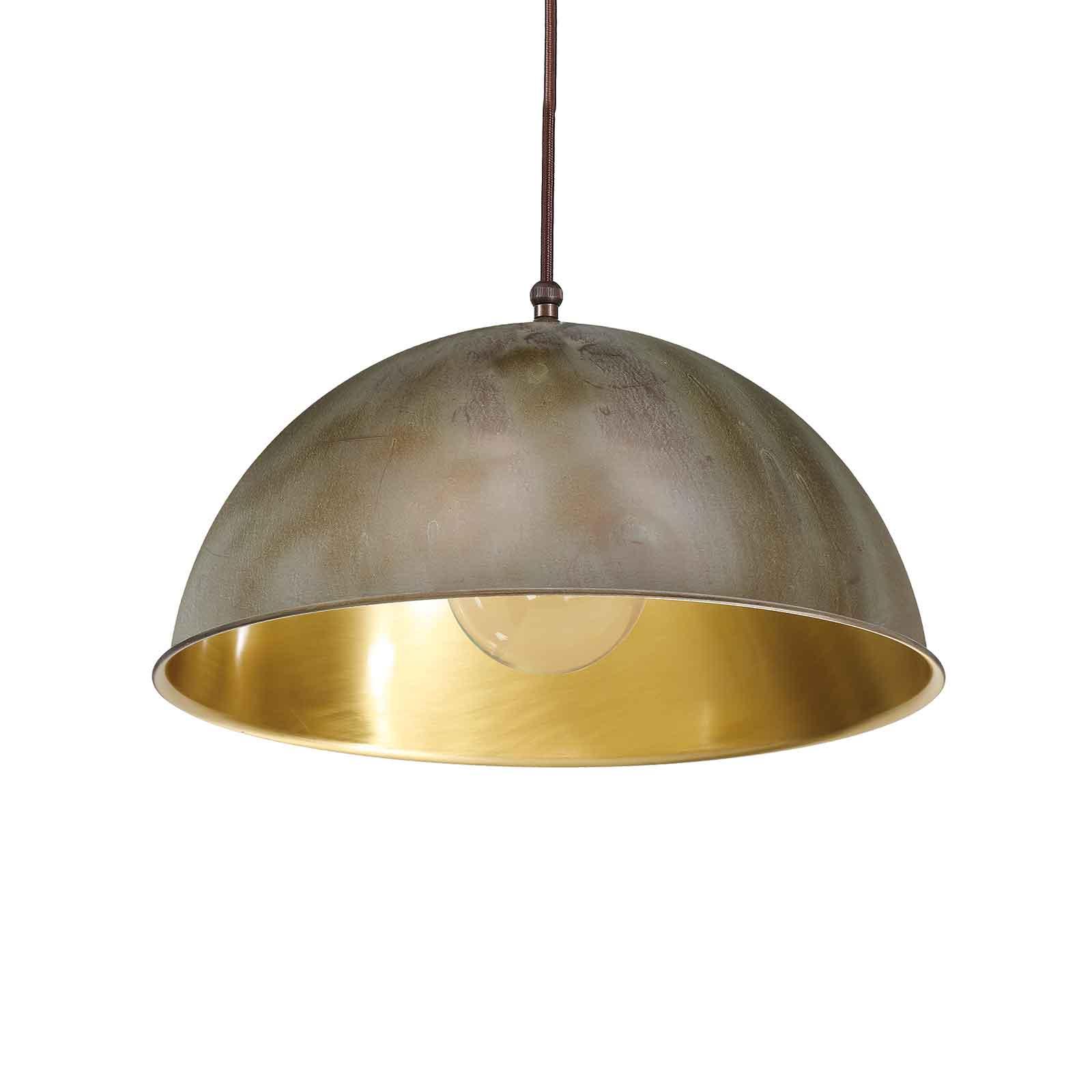 Hanglamp Circle goud / messing antiek, Ø25cm