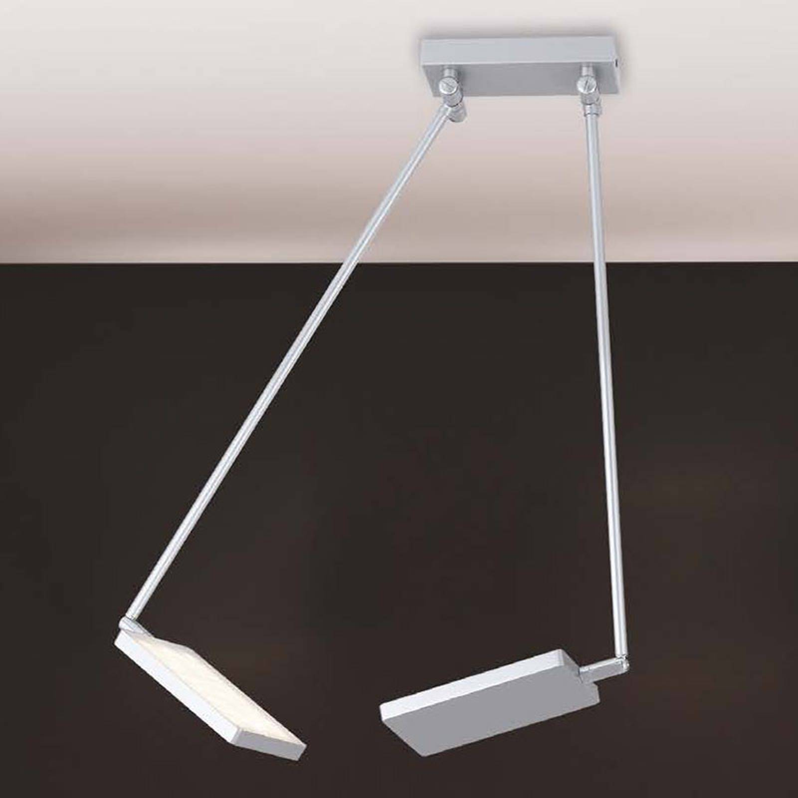 Lampa sufitowa LED Book, szara