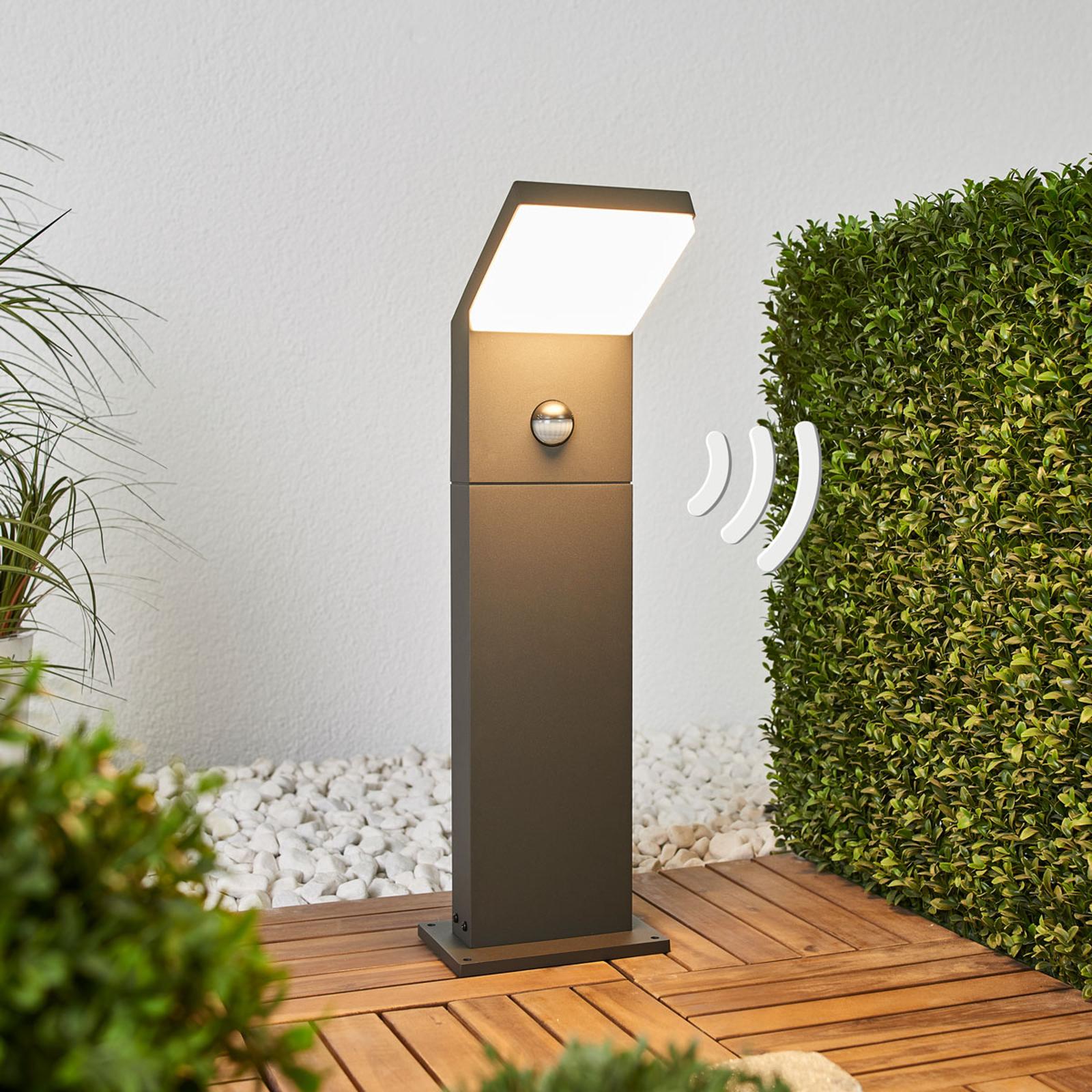 Yolena, słupek ogrodowy LED z czujnikiem, 60 cm