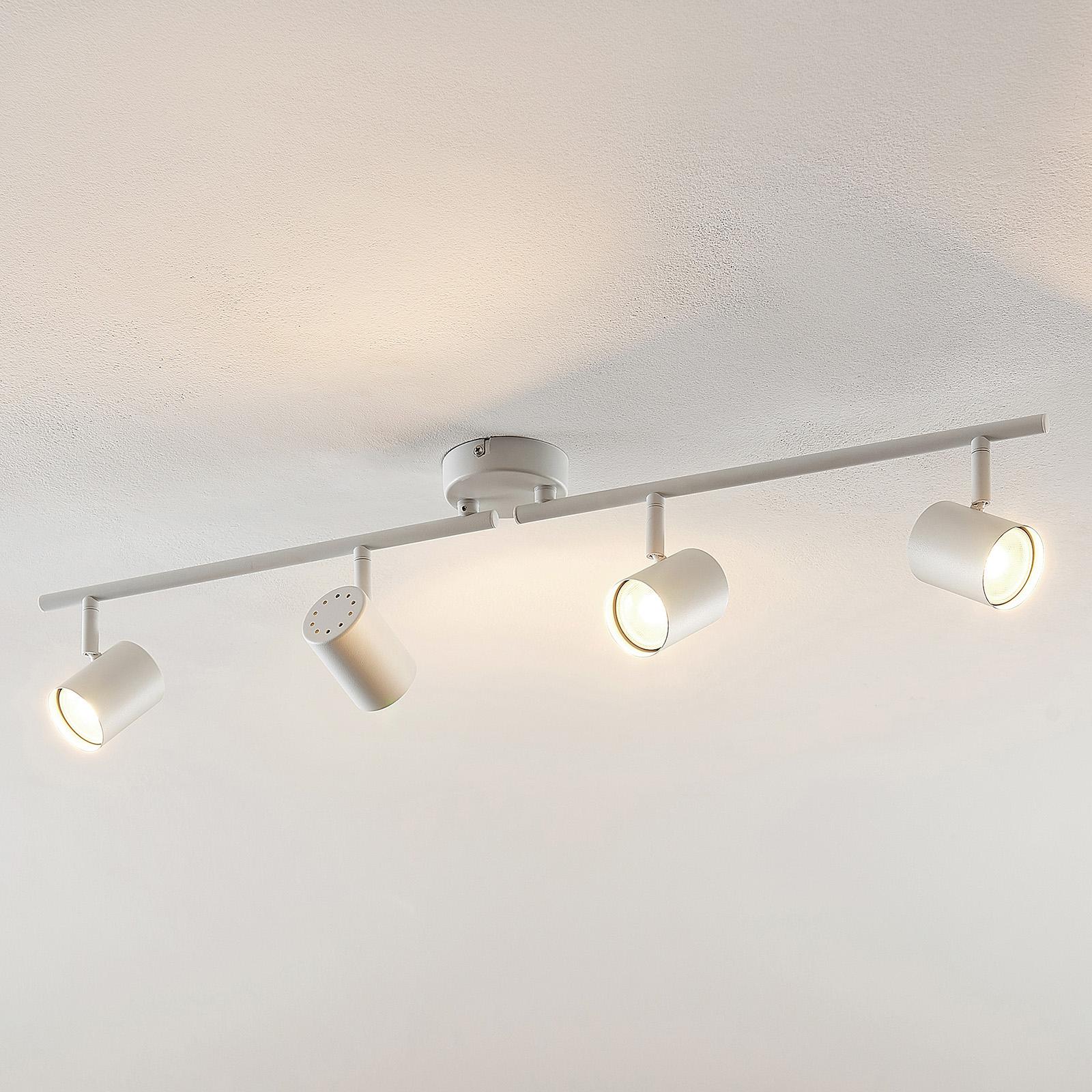 ELC Tomoki LED-taklampa, vit, 4 lampor