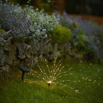 LED-solar-grondspies lamp Firework, hoogte 23 cm