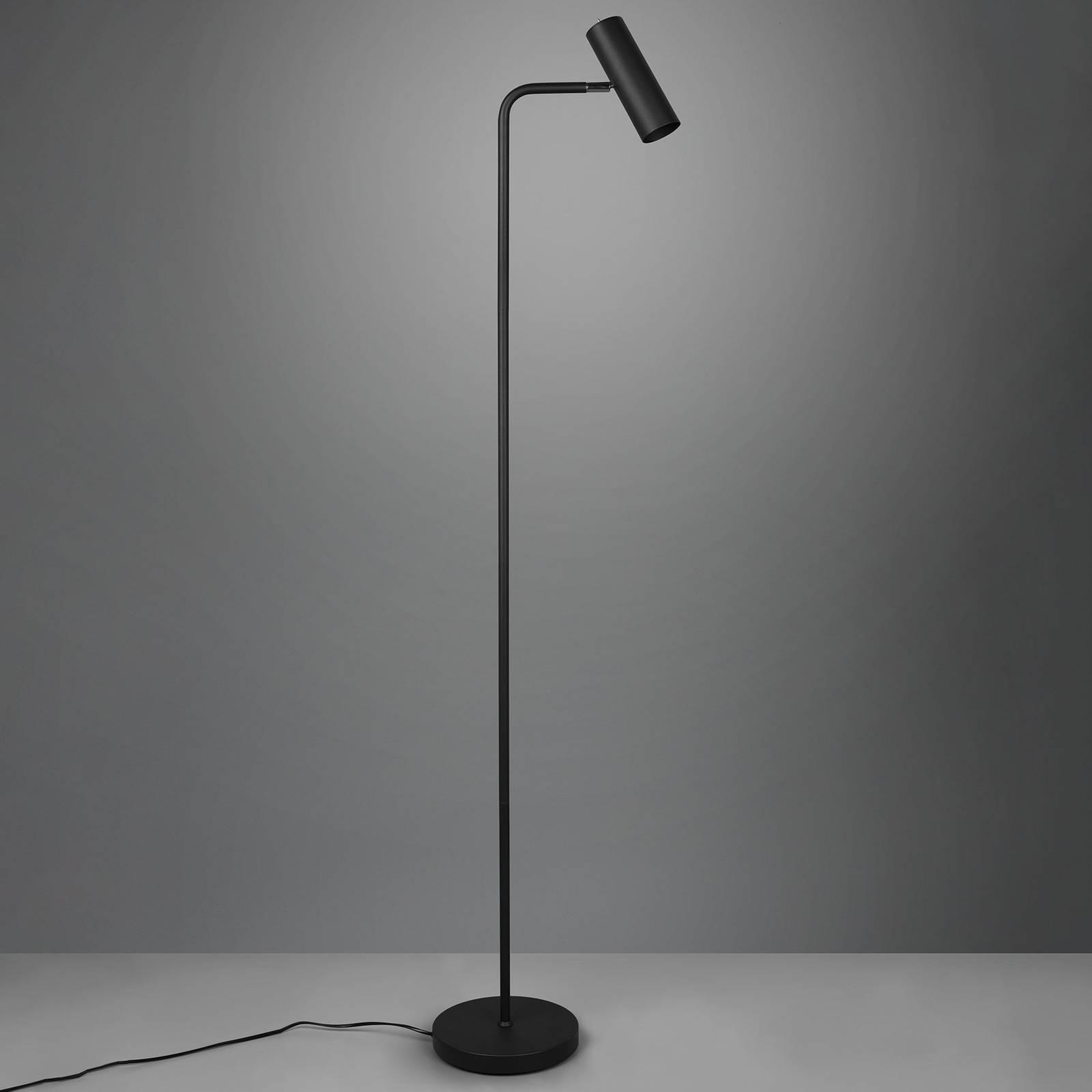 Vloerlamp Marley, mat zwart