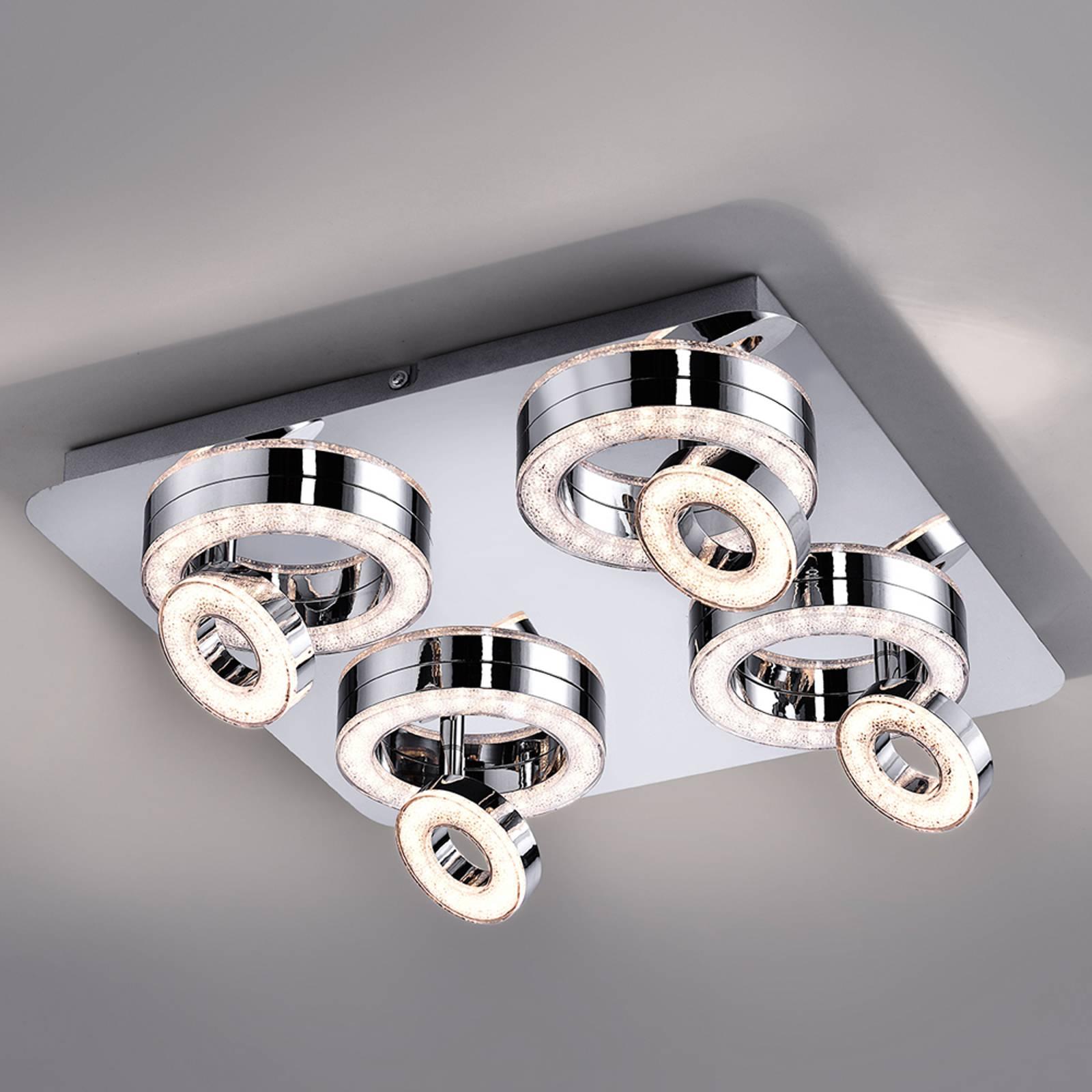 Lampa sufitowa LED Tim z 8 pierścieniami