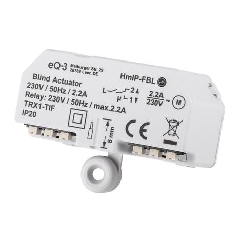 Homematic IP attuatore tendine incasso/giorno