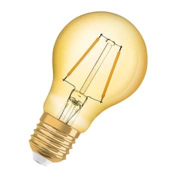 OSRAM LED-pære E27 2,5W 1906 Classic A 2.400K guld