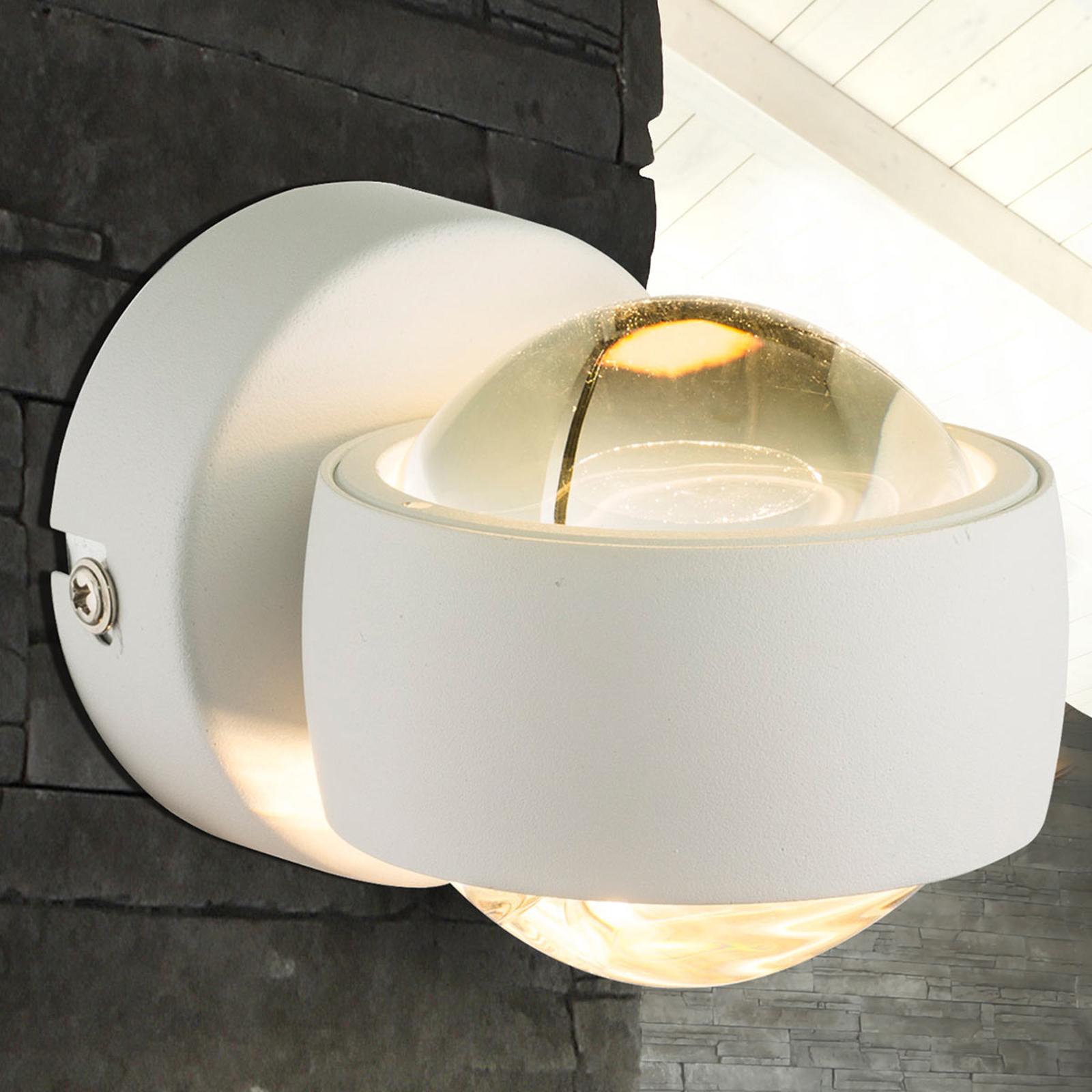 Liten, hvit LED-vegglampe Randi