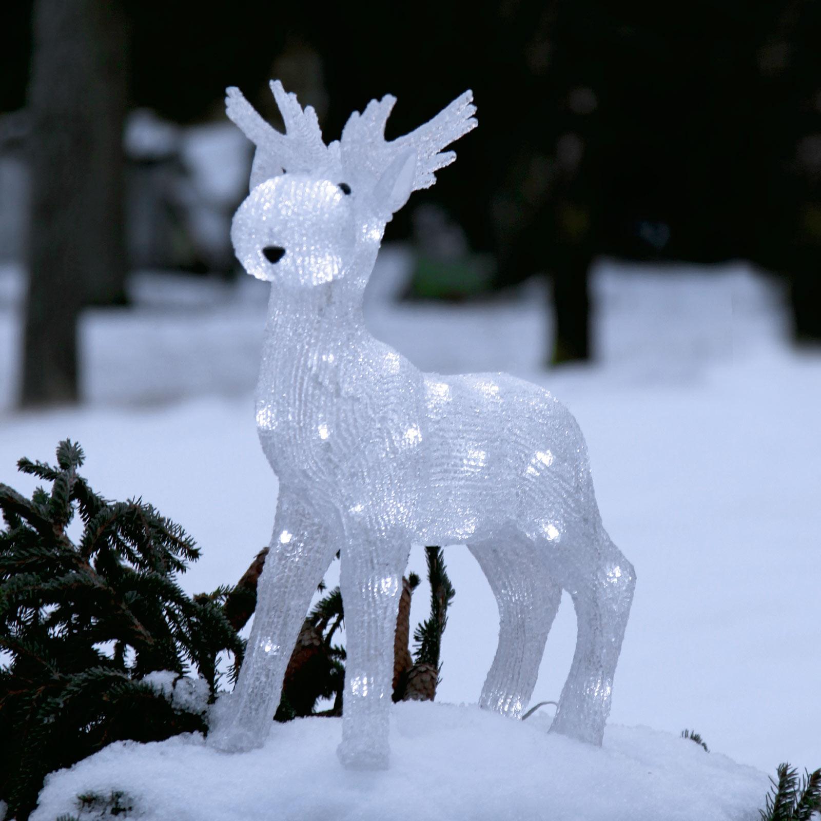 LED-figur Crystalo älg för utomhusbruk