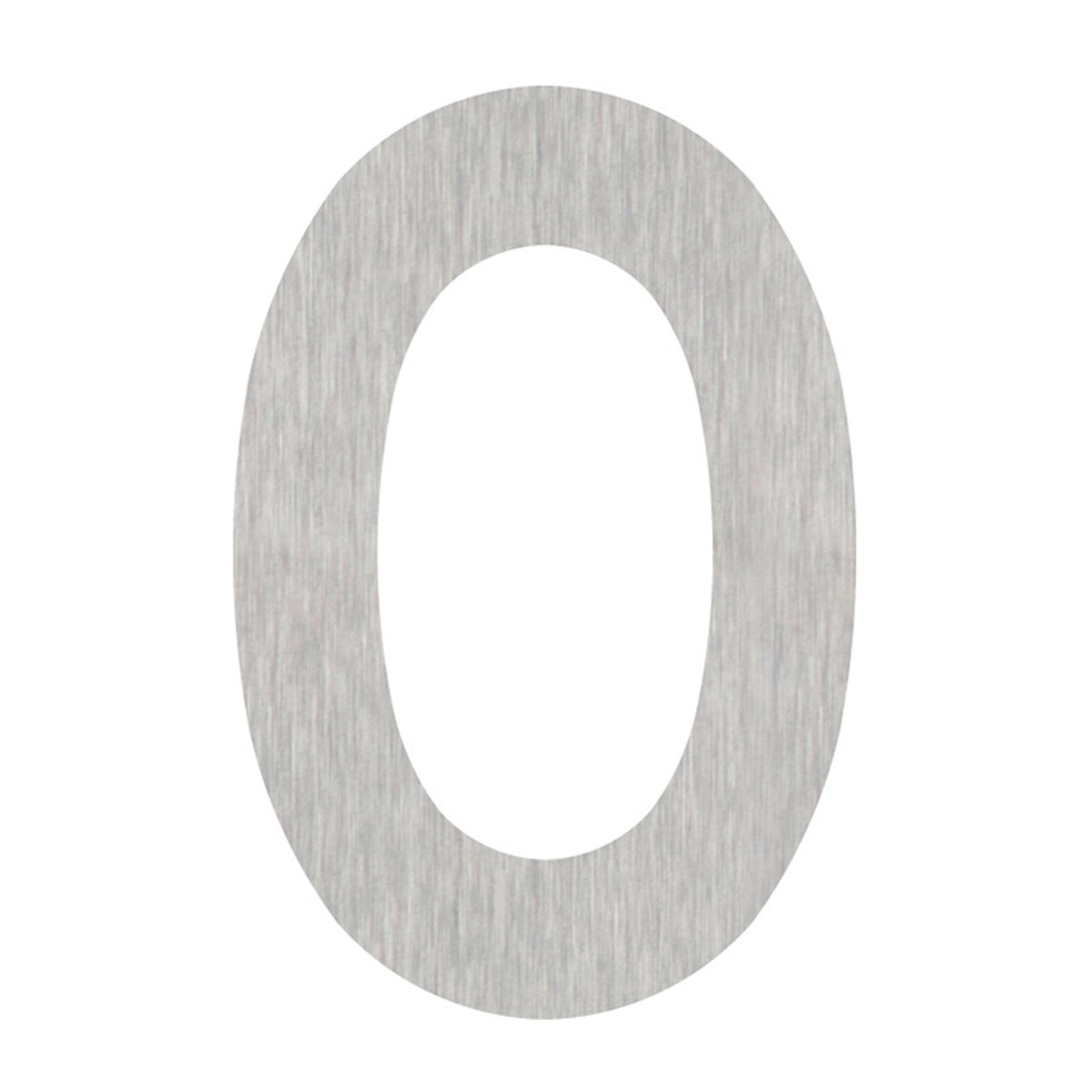 Huisnummers cijfer 0