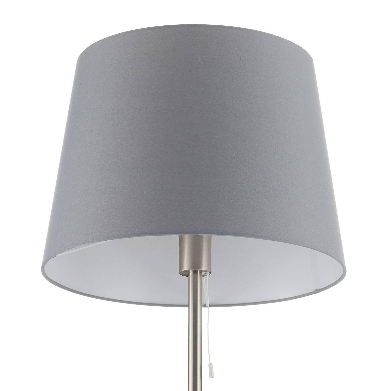 Textiel-vloerlamp Layer met leeslamp grijs