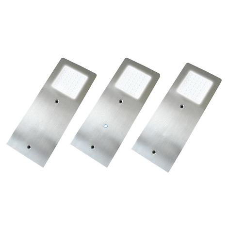 Sottile lampada LED per mobili Alustar, set da 3