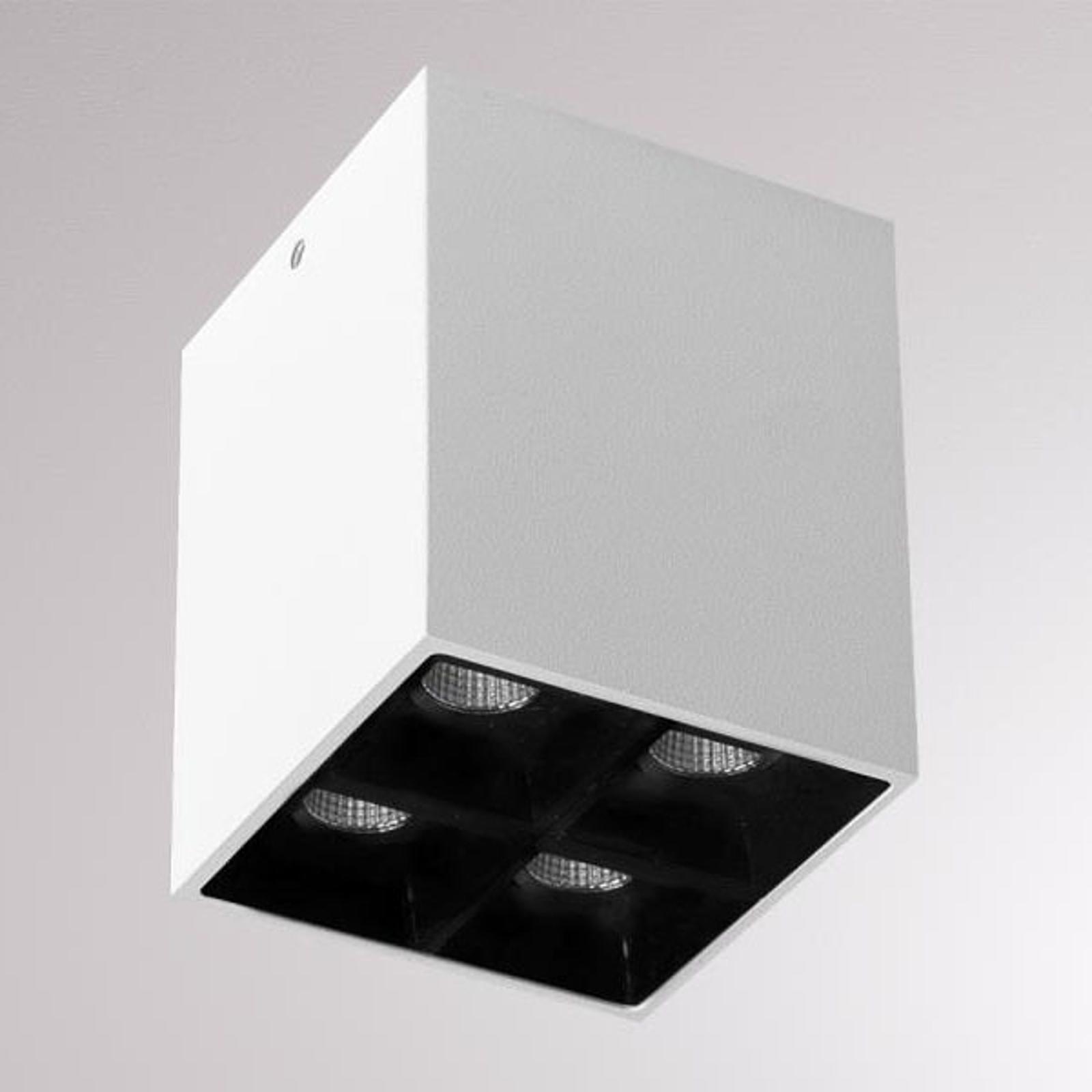 LOUM Liro LED-Deckenspot weiß/schwarz 34° 3.000K