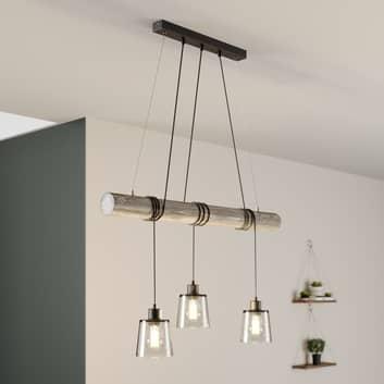 Karrl hængelampe, 3 lyskilder, røggrå, grå