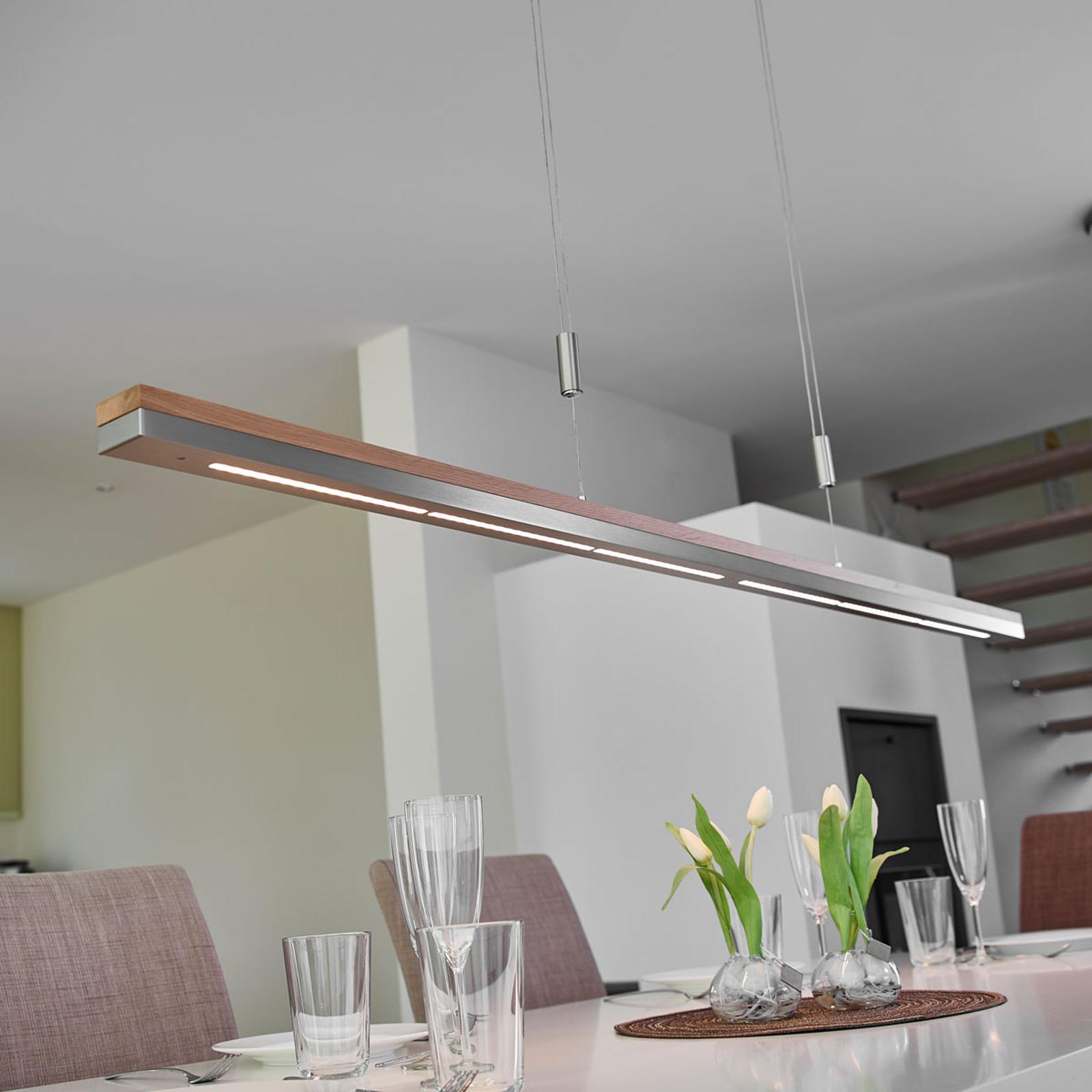 Lampada a sospensione LED Elna in due materiali