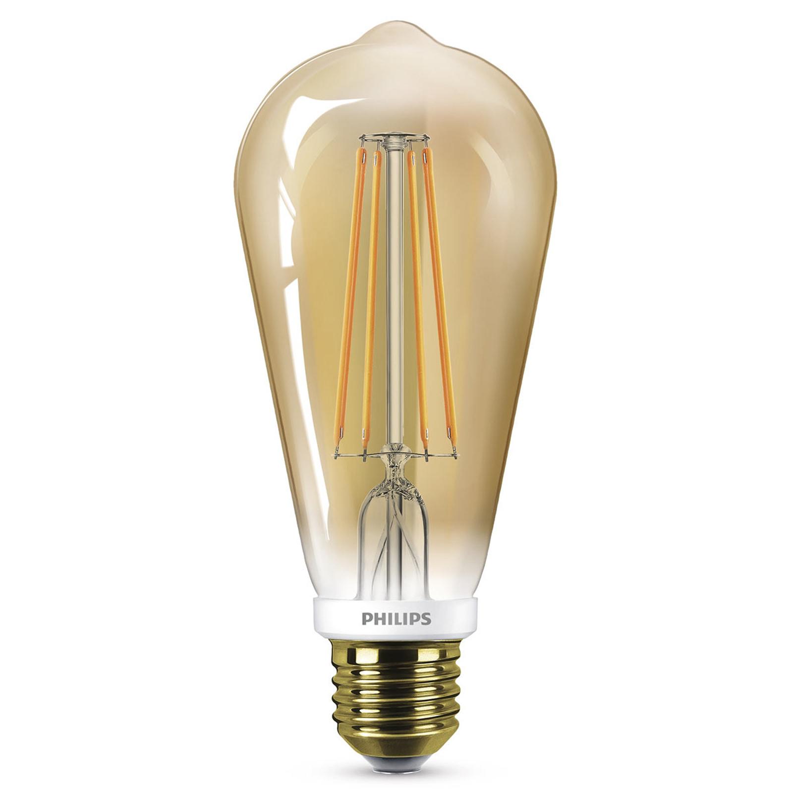Philips żarówka LED E27 ST64 5,5W złota ściemniana