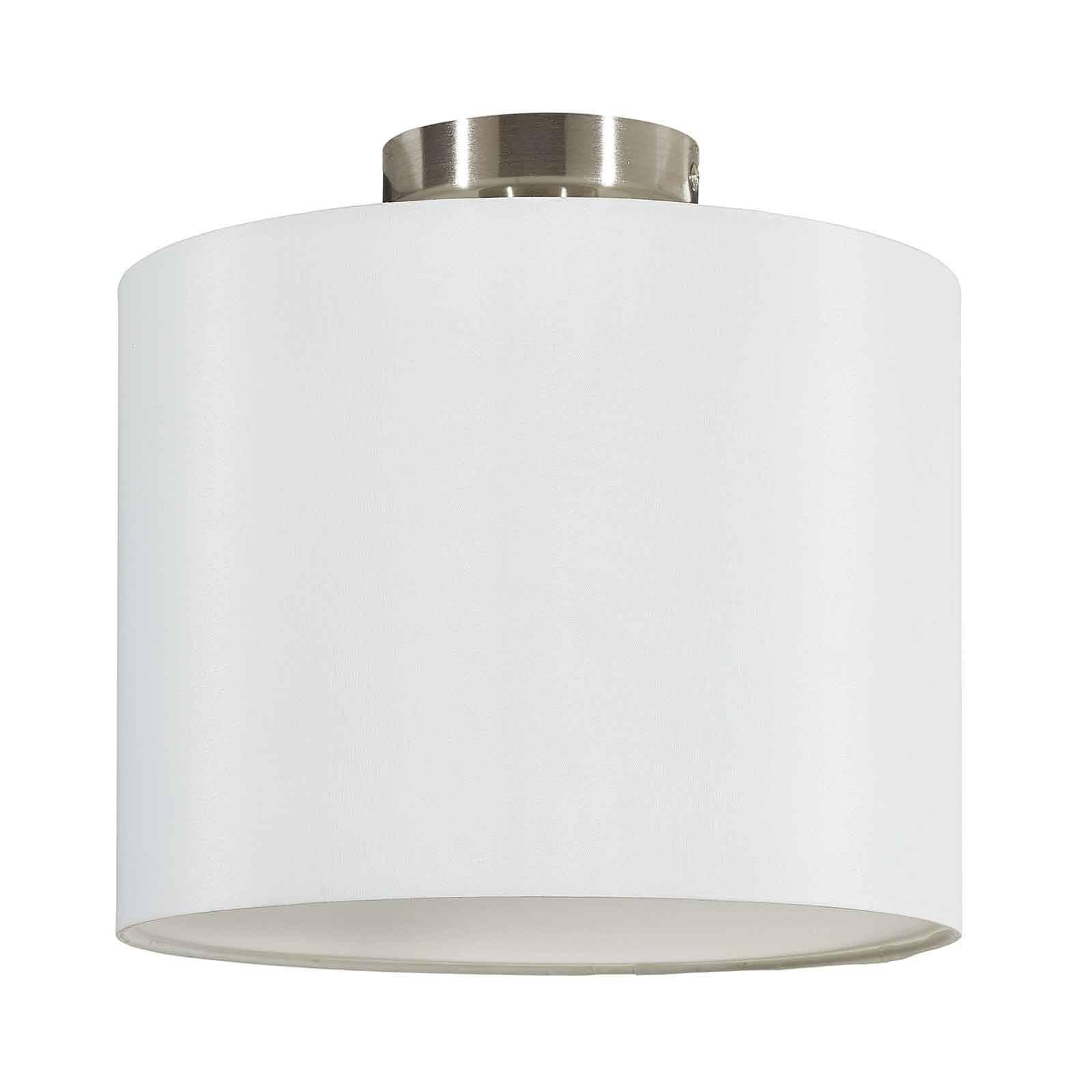 Lucande Patrik textiel-plafondlamp Ø30cm wit