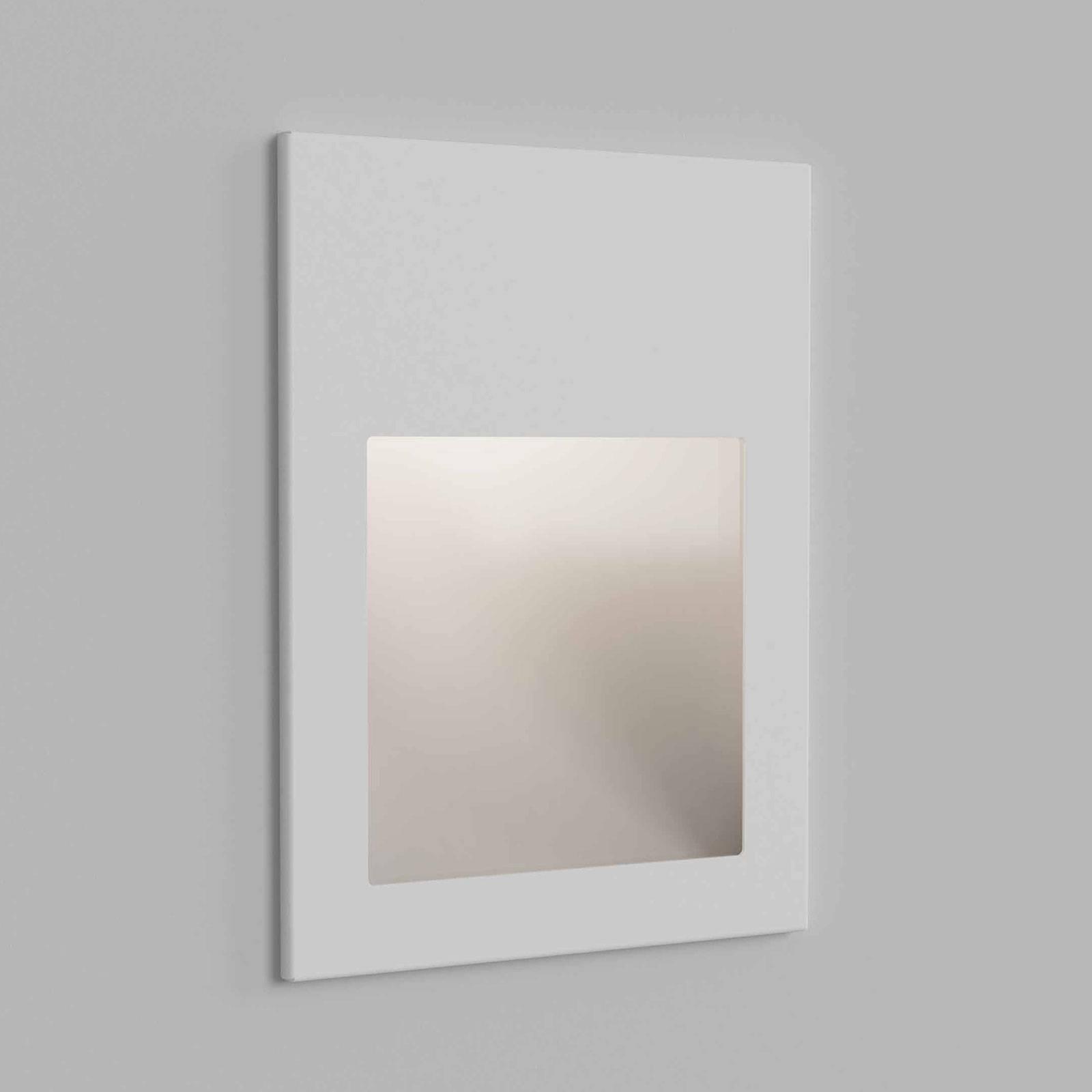 Astro Borgo 90 applique encastr. blanc texturée