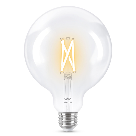 WiZ E27 LED globo filamento claro 6,5W 2200-5500K