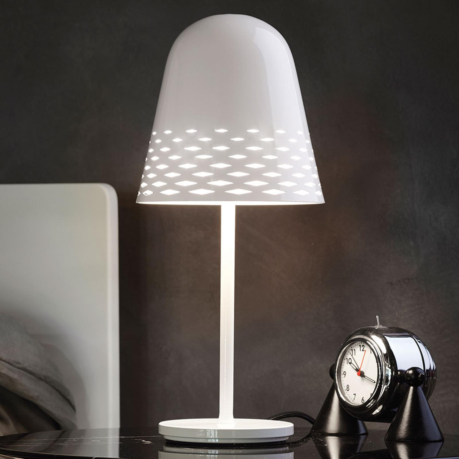 Lámpara de mesa de diseño Capri blanco altura 40cm