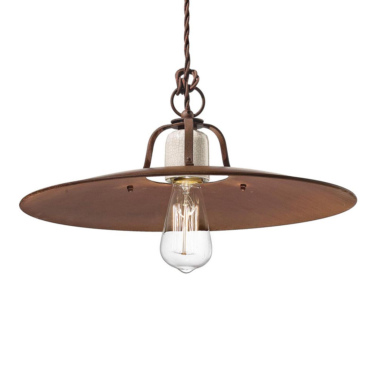 Lampa wisząca Riccardo z dużym metalowym kloszem