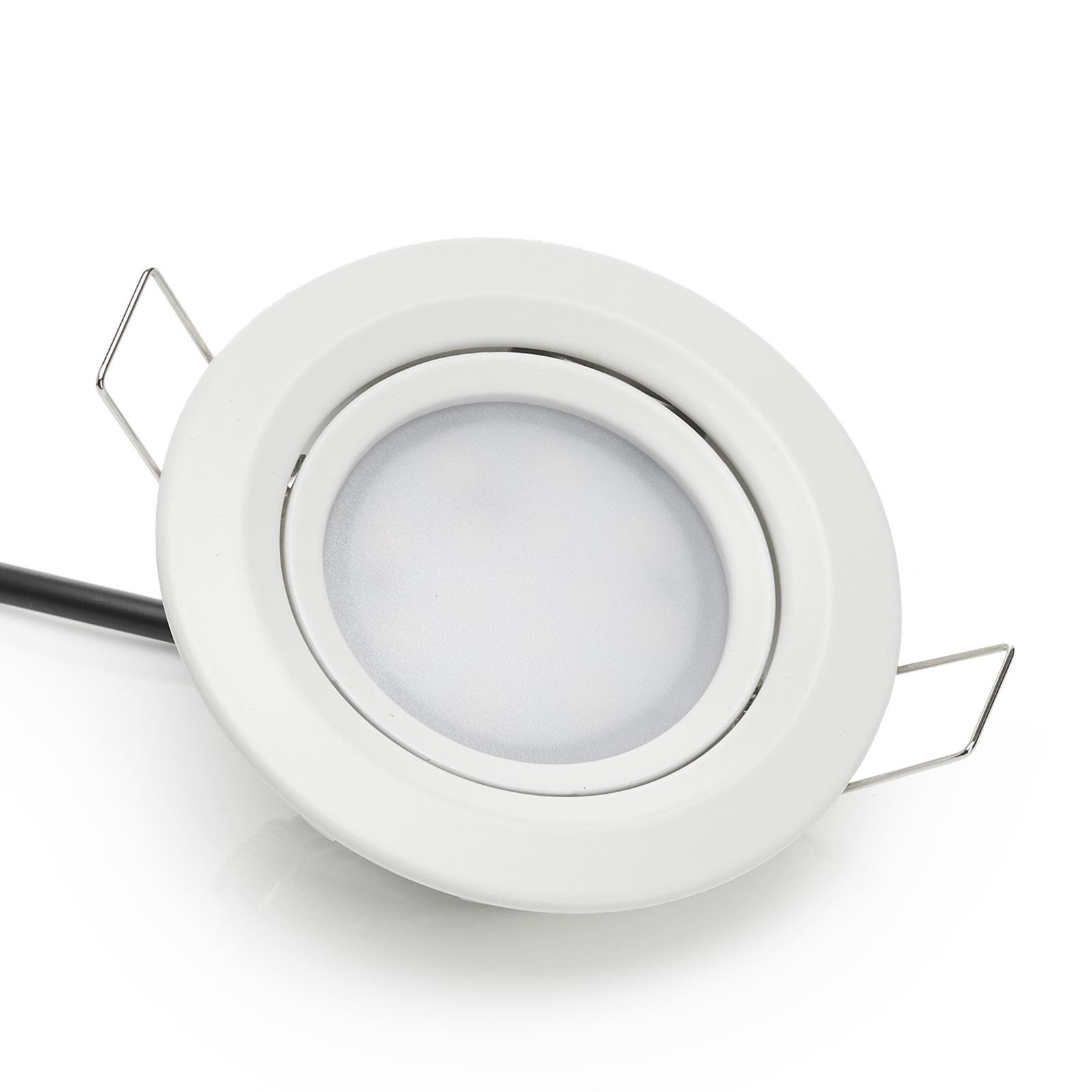 Paulmann Coin Slim LED-Einbauleuchte IP44 3er weiß