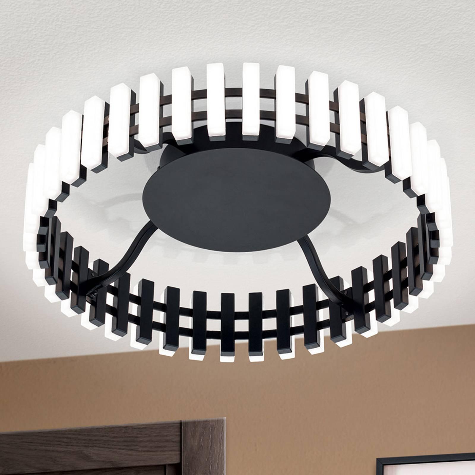 LED-Deckenleuchte Mansion, schwarz-weiß Ø 43 cm