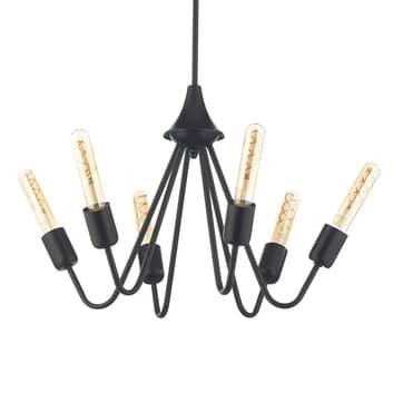 Lámpara colgante Billy, 6 luces