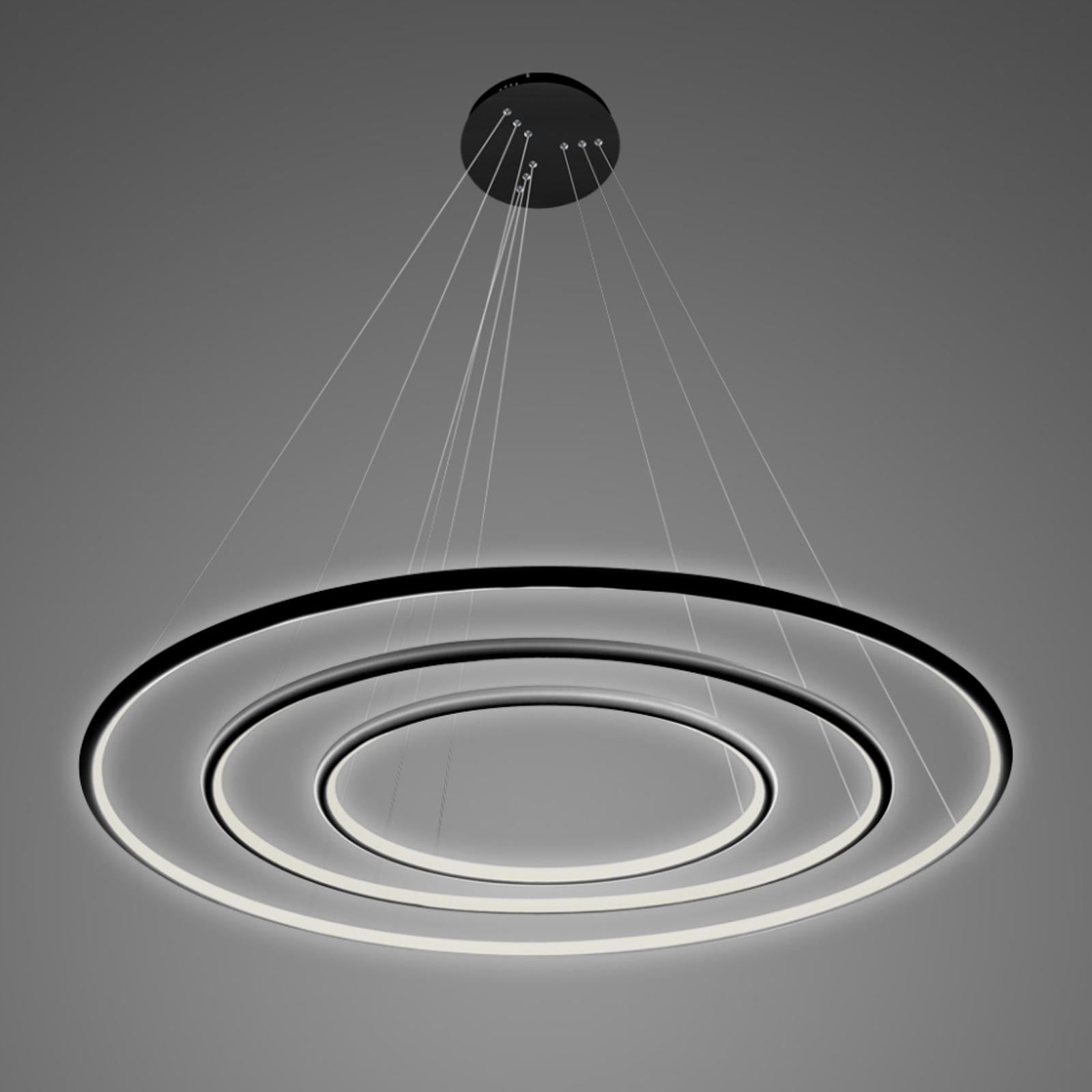 Hanglamp LA075 3-lamps 80cm zwart 4.000 K