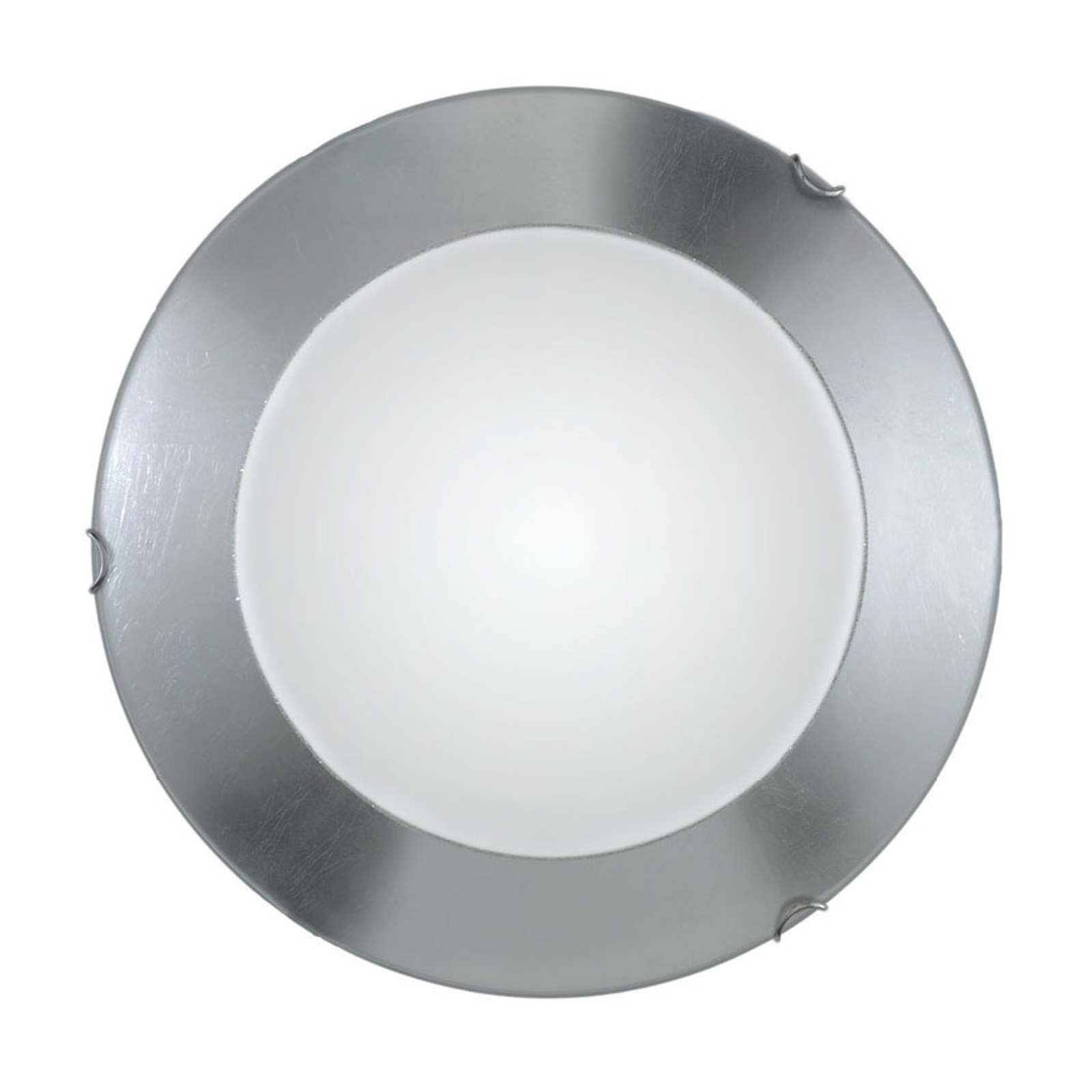 Lampa sufitowa Moon Leaf, srebrna, Ø 40 cm