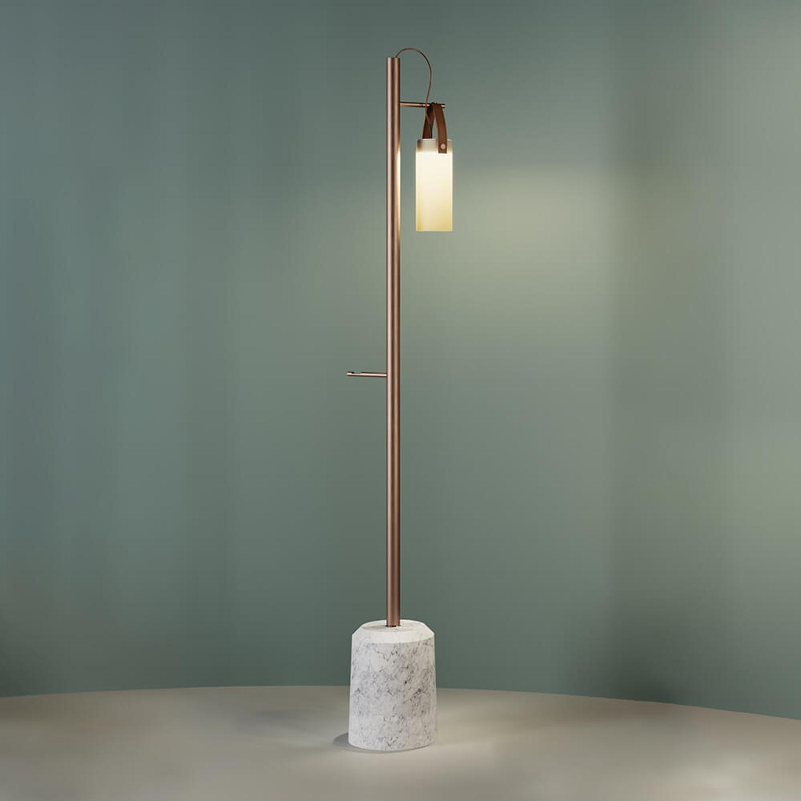 Designerska lampa stojąca LED Galerie, 1-punktowa