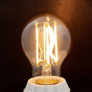 E27 LED-pære filament 6W, 500Lm, rav 2.200K