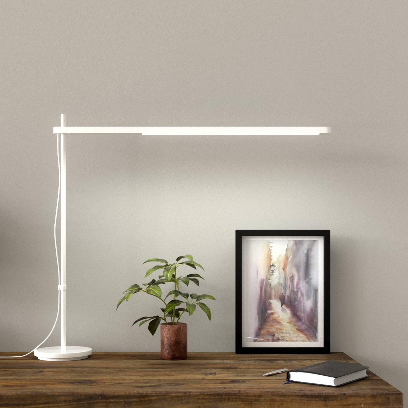 Lampada LED da tavolo Talak Professional, bianca
