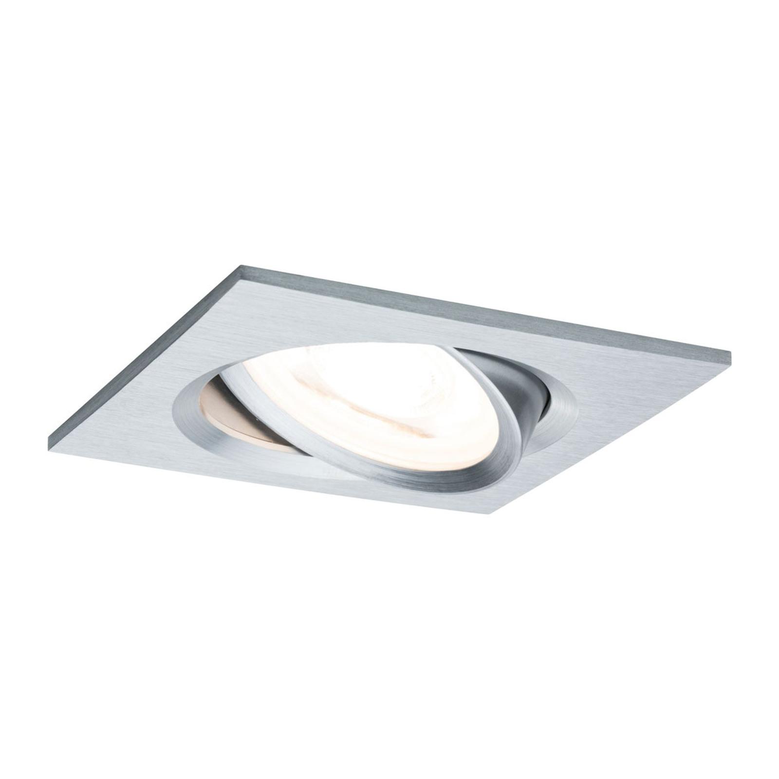 Paulmann LED-Spot Nova Coin eckig, dimmbar, Alu