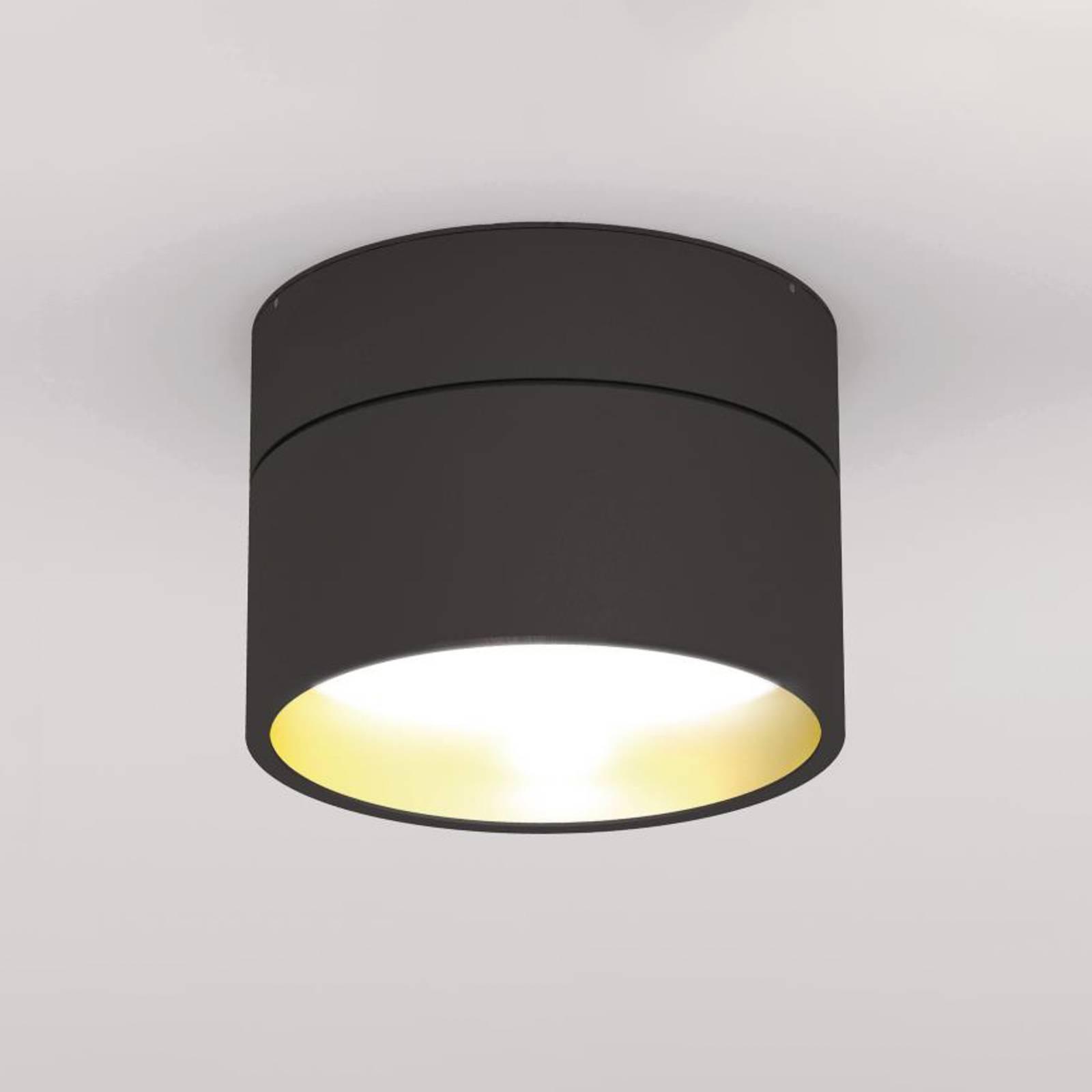LOUM Turn on LED-Deckenleuchte 2.700K schwarz/gold