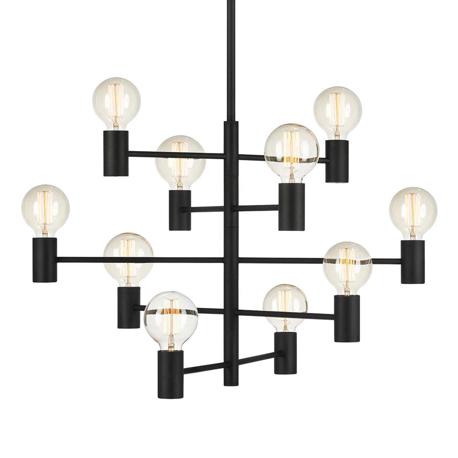 10-lamps hanglamp Parijs