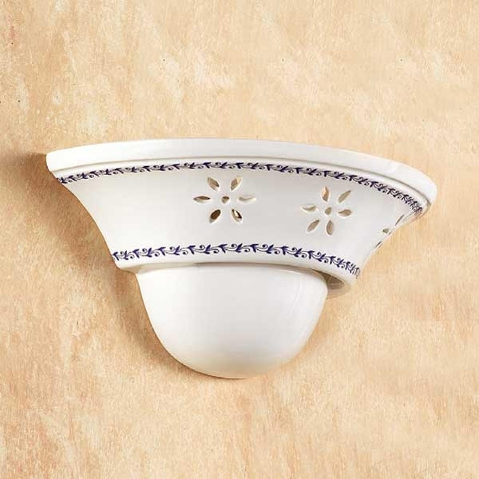Elegant vägglampa IL PUNTI med keramikskål