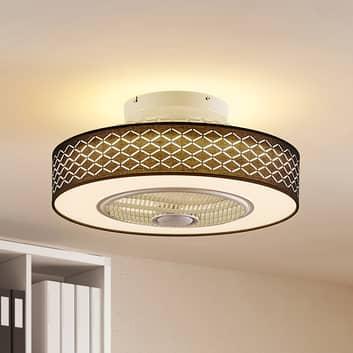 Lindby Taim wentylator sufitowy LED, czarny